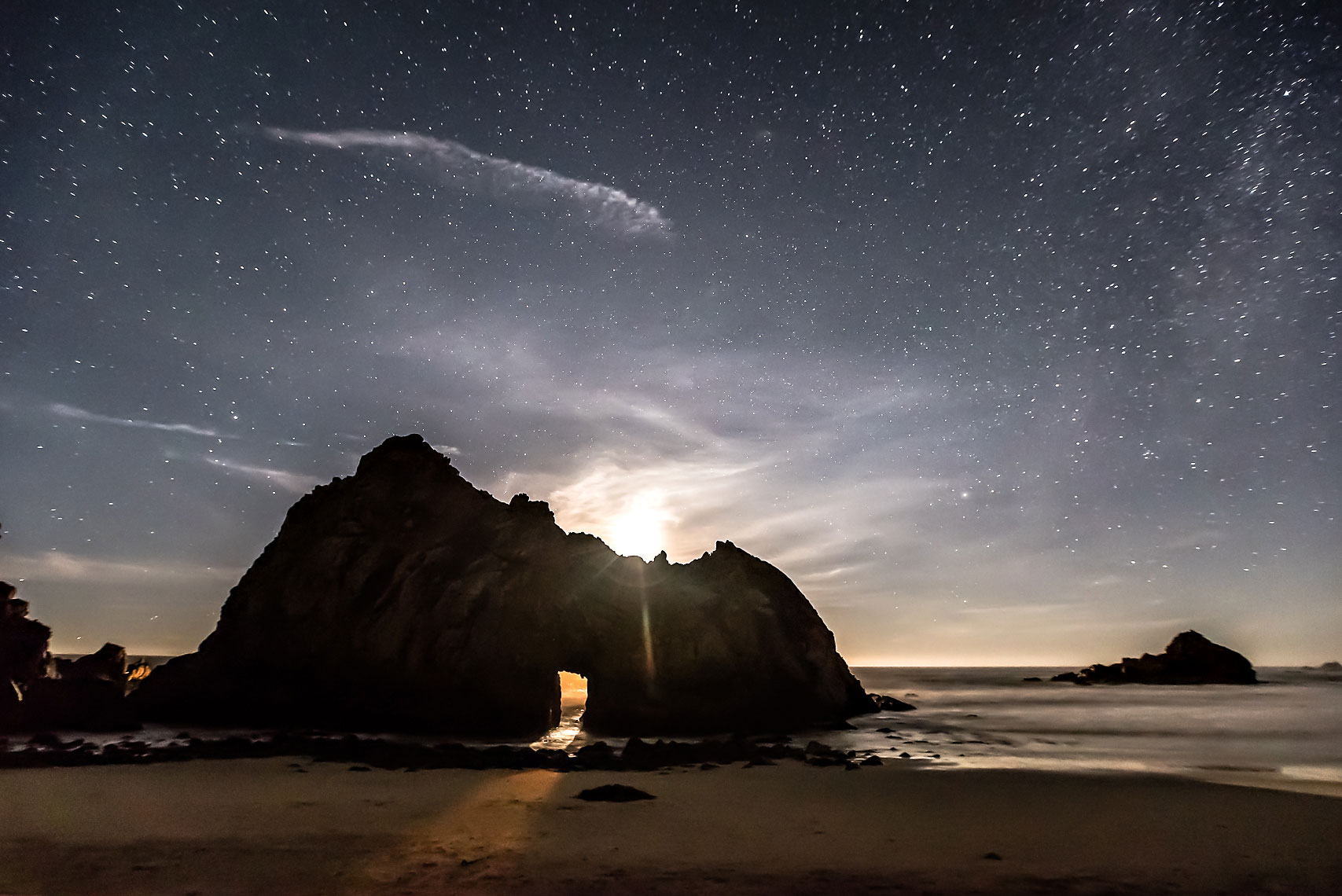 Big Sur Keyhole Moonset