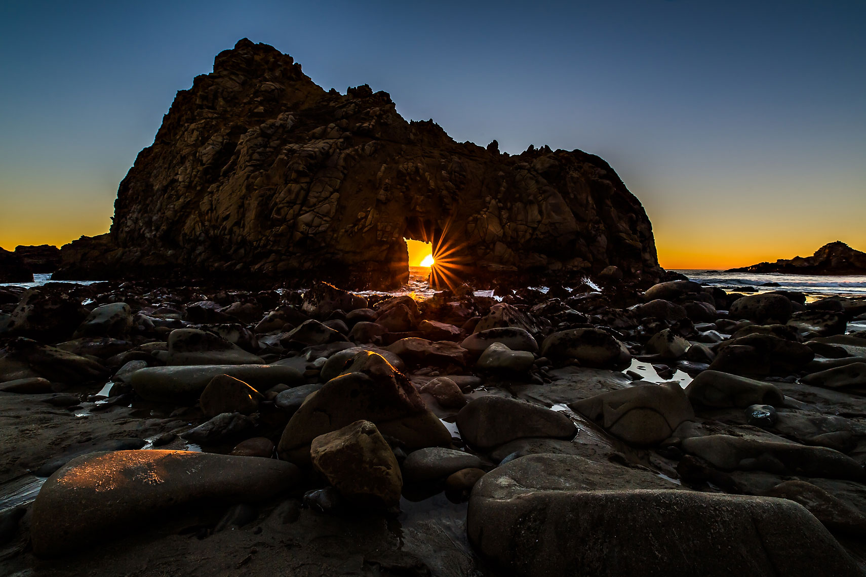 Big Sur Pfieffer Keyhole Sunset