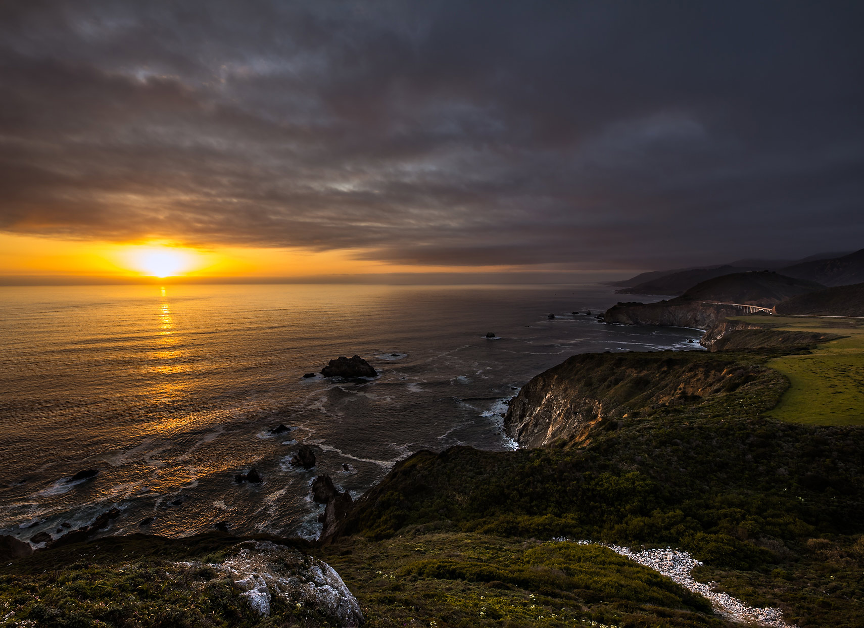 Bixby Bridge View Sunset