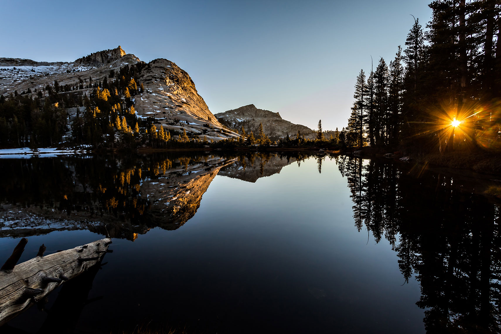 Cathedral Lake Sunset Reflection