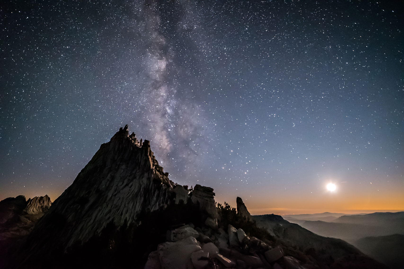 Cathedral Peak Milky Way Moon