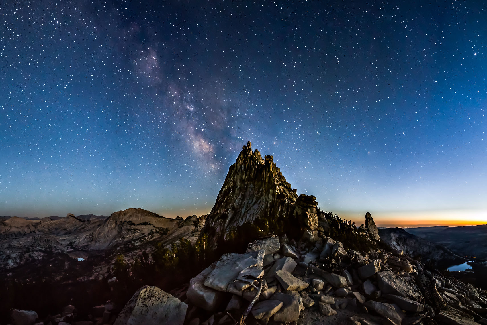 Cathedral Peak Milky Way