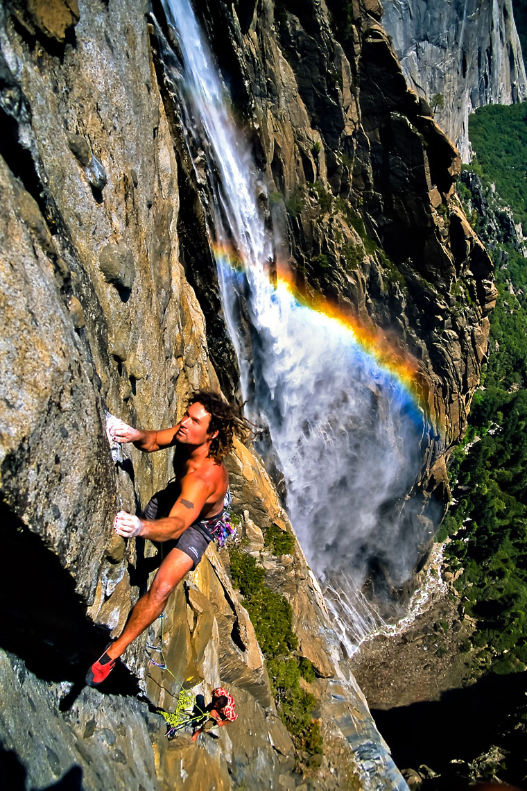 Yosemite Rock Climber Rainbow