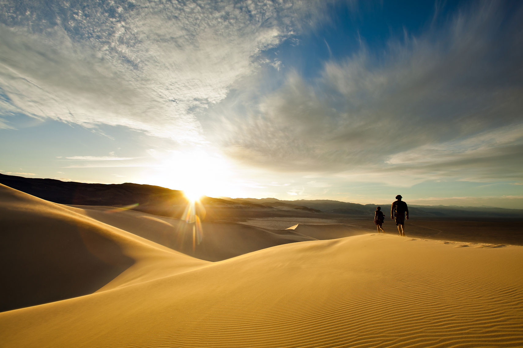 Death Valley Sand Dunes Couple