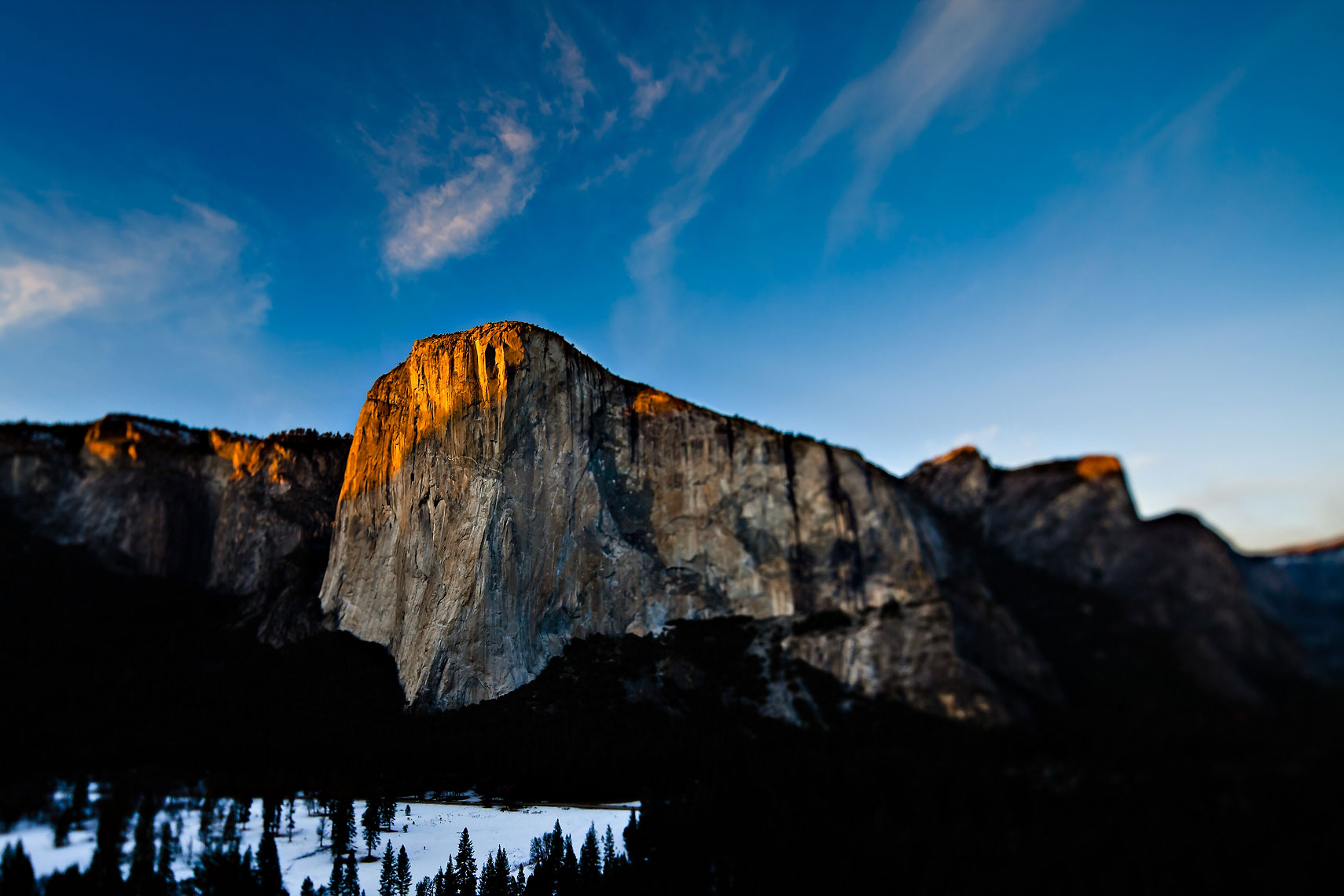 El Cap Yosemite Tilt Shift