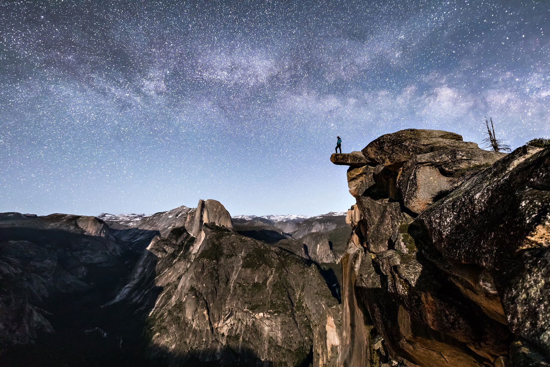 Glacier Point Milky Way man