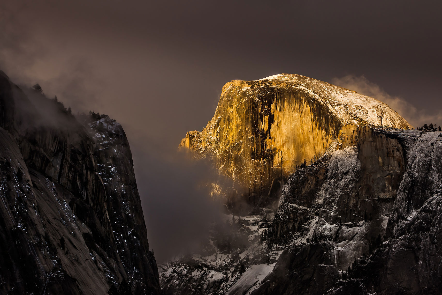 Half Dome Storm Light