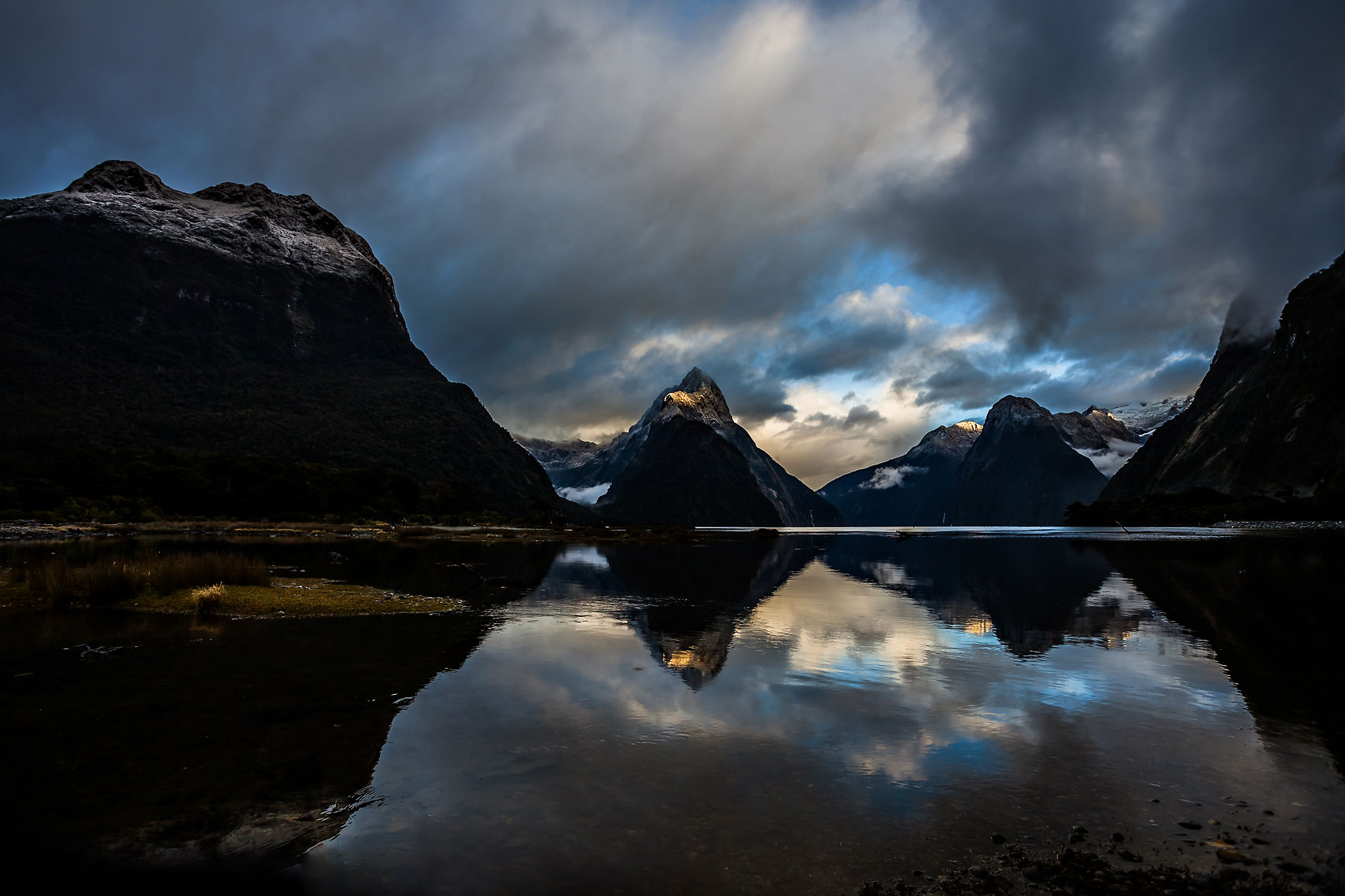 NZ Milford Sound Reflection