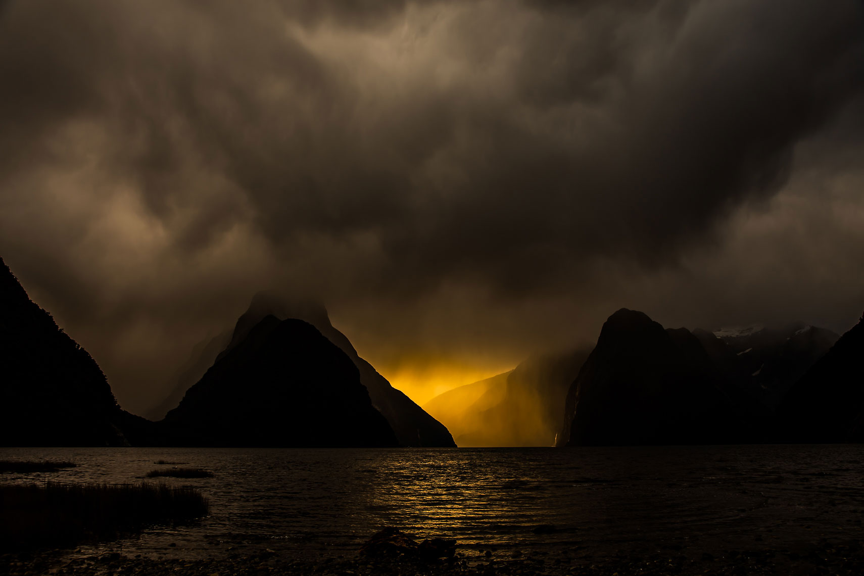 Milford Sound Storm Light