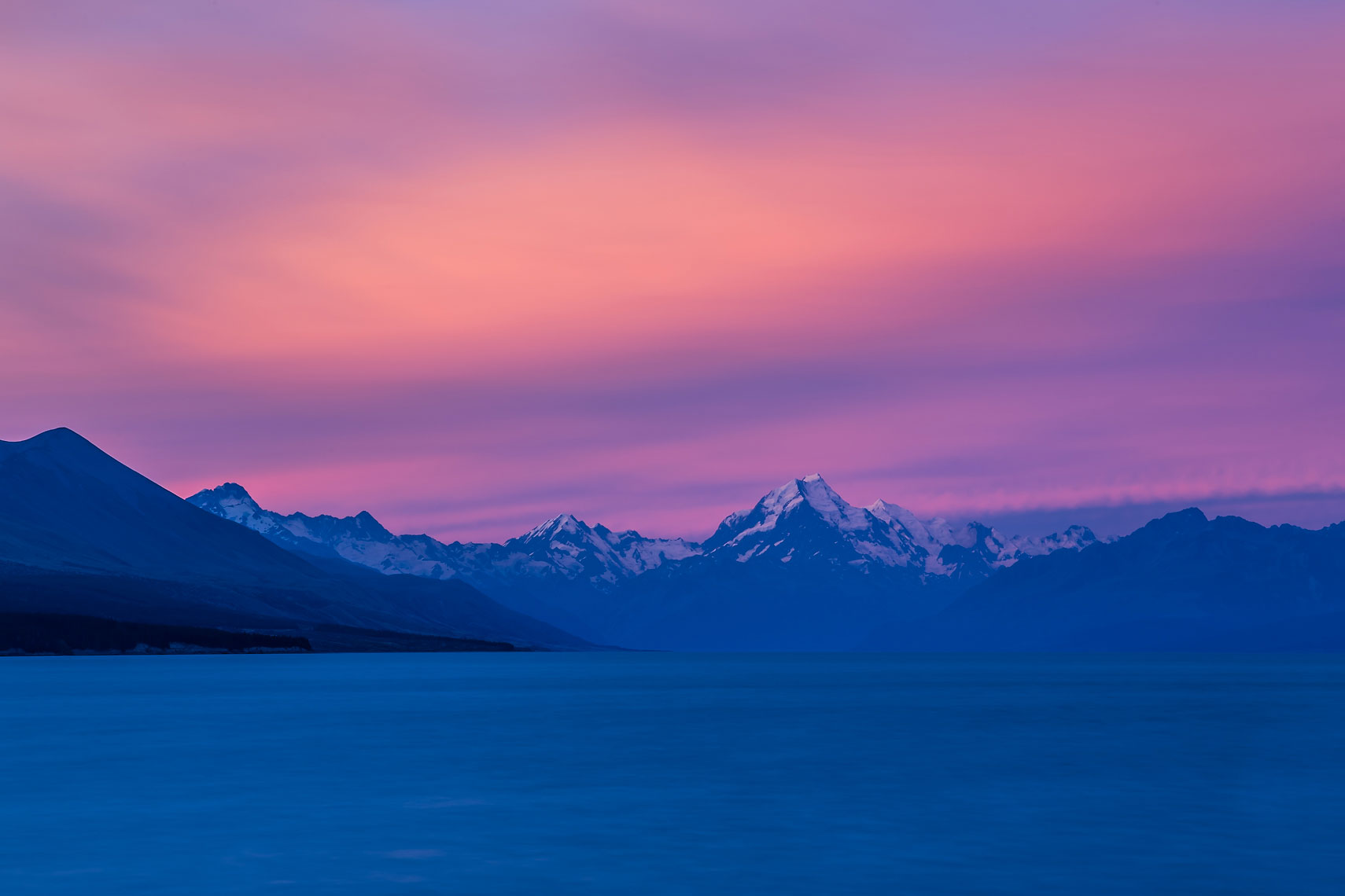Mt Cook Lake Pukaki Pink