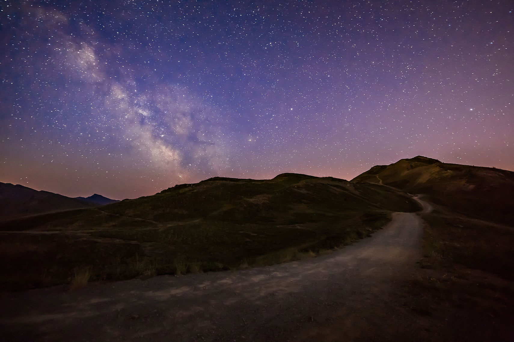 Path to the Milky Way Alps
