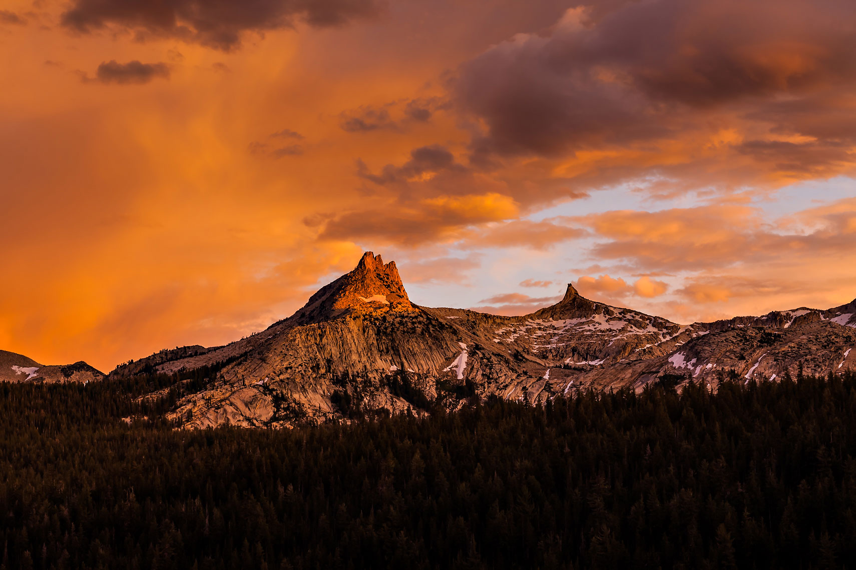 Tuolumne Unicorn Peak Sunset