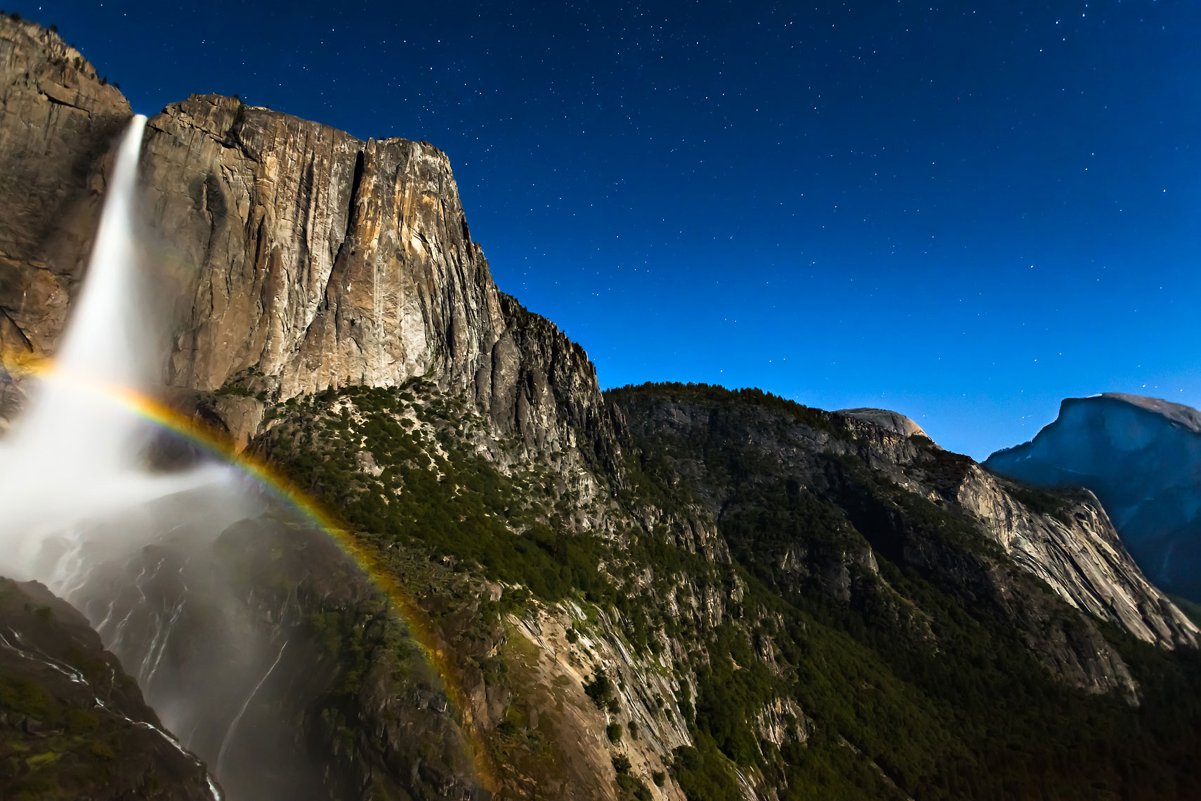 Yosemite Falls Moonbow Half Dome