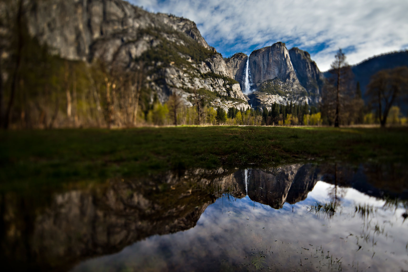 Yosemite Falls Reflection TiltShift