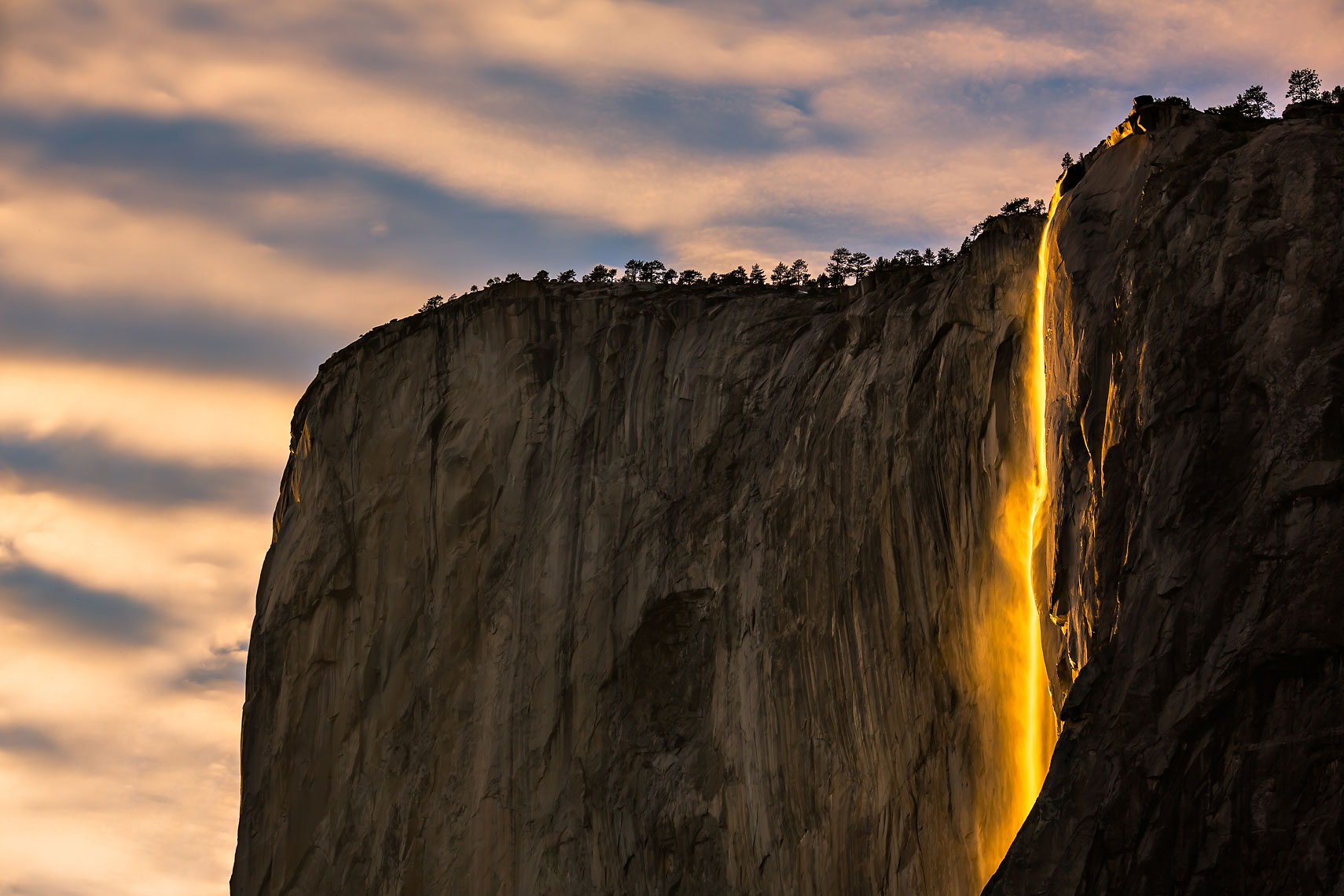 Yosemite Firefall Clouds