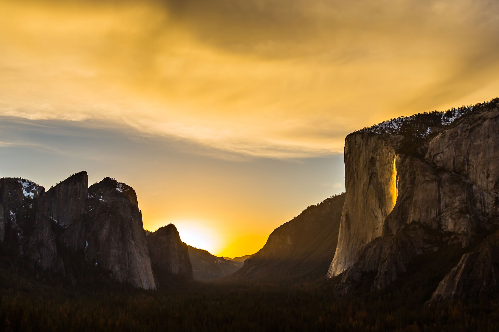 Yosemite Firefall Sunset