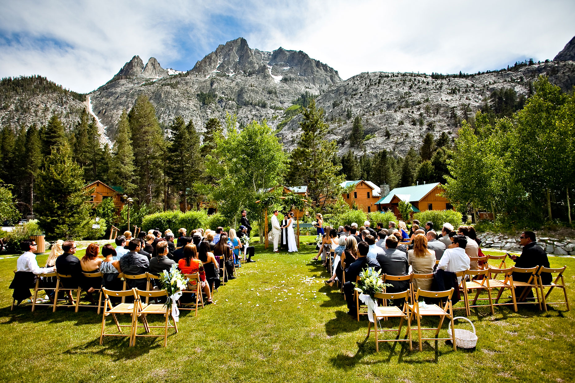 June Lake wedding photographer at Double Eagle resort.