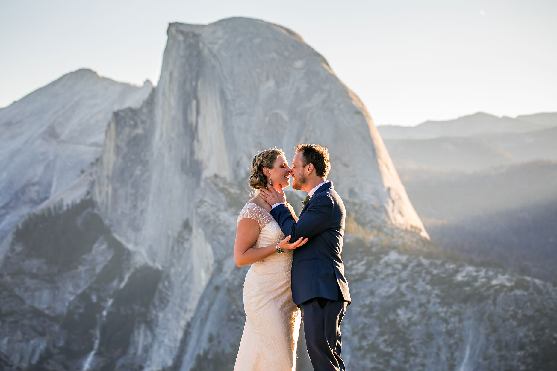 Glacier Point intimate wedding photographer.