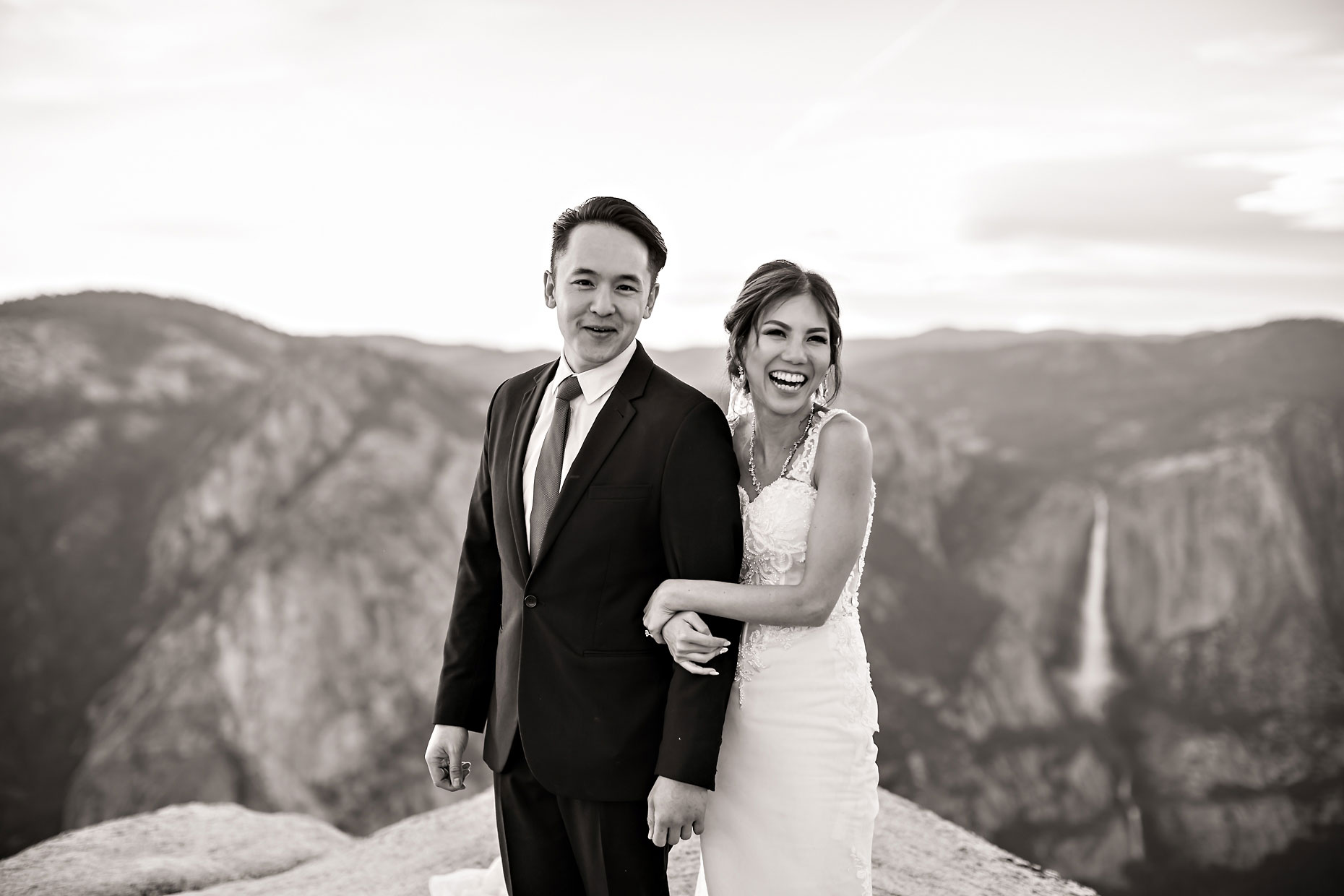 Taft Point intimate wedding elopement photographer in Yosemite.