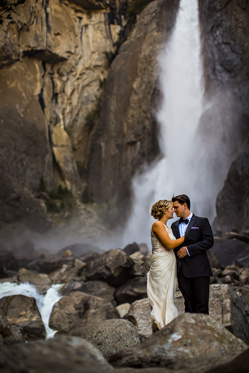 Yosemite Falls wedding & elopement photographer.