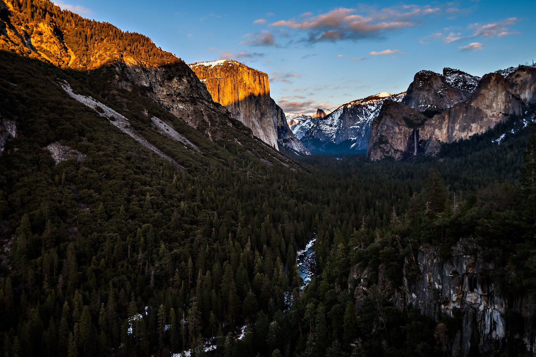 Yosemite Valley View Alpenglow