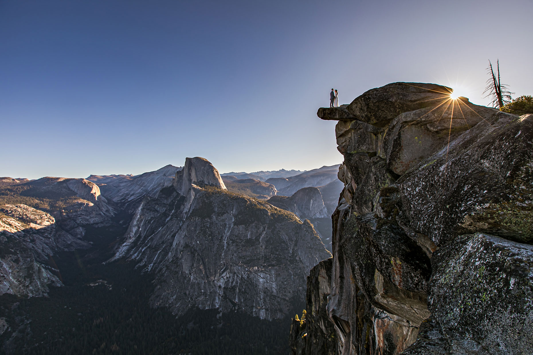Glacier Point adventure elopement photographer in Yosemite.