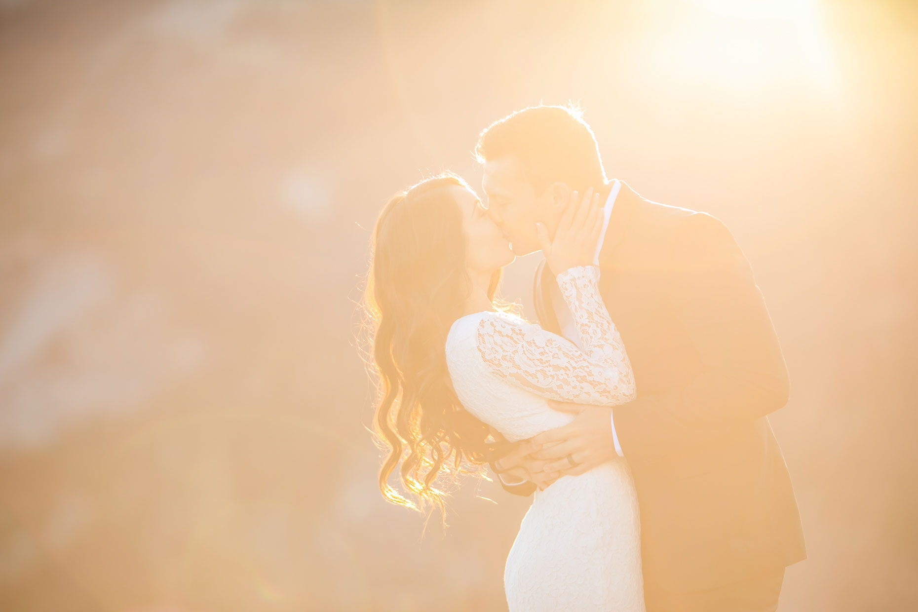 Elopement photography at Glacier Point at sunrise.
