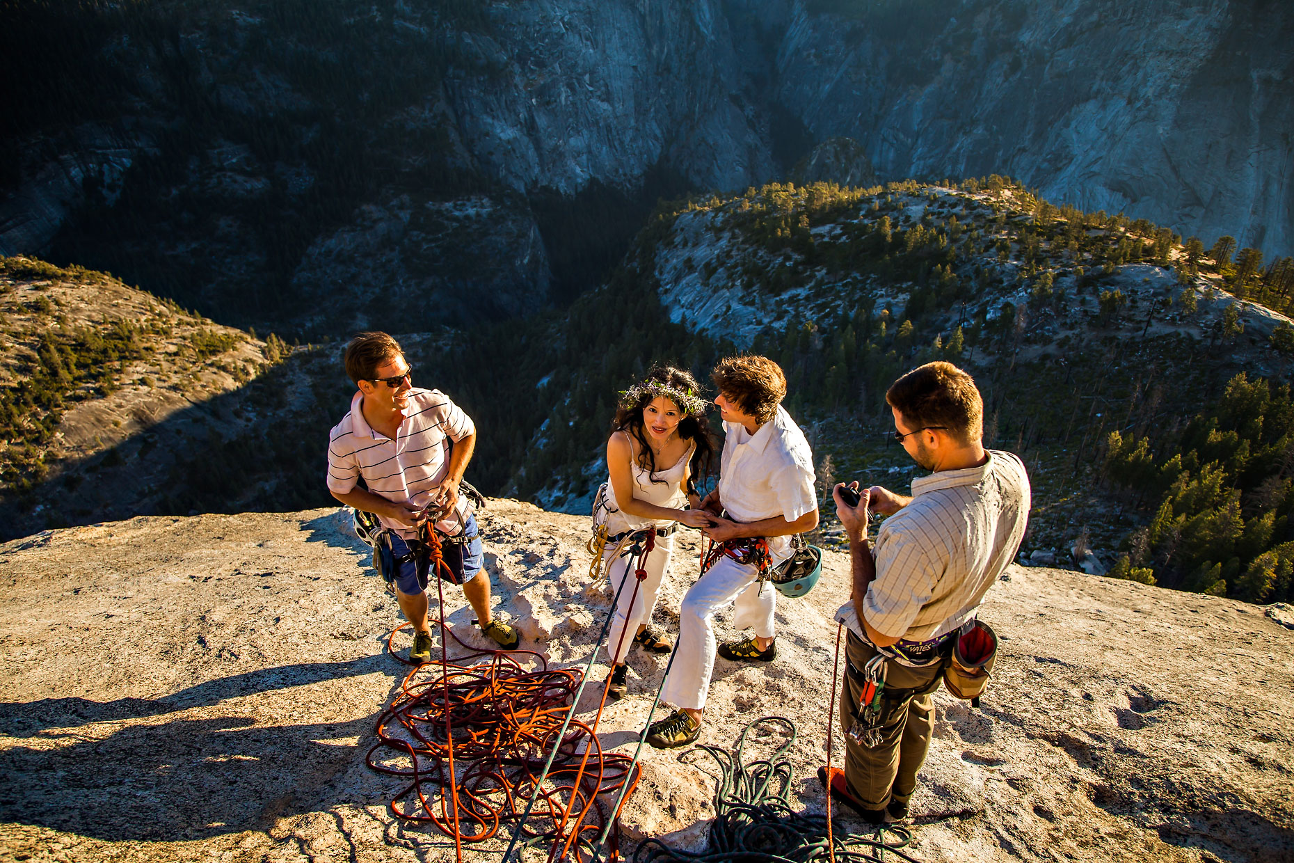 Yosemite adventure elopement photographer on Half Dome.