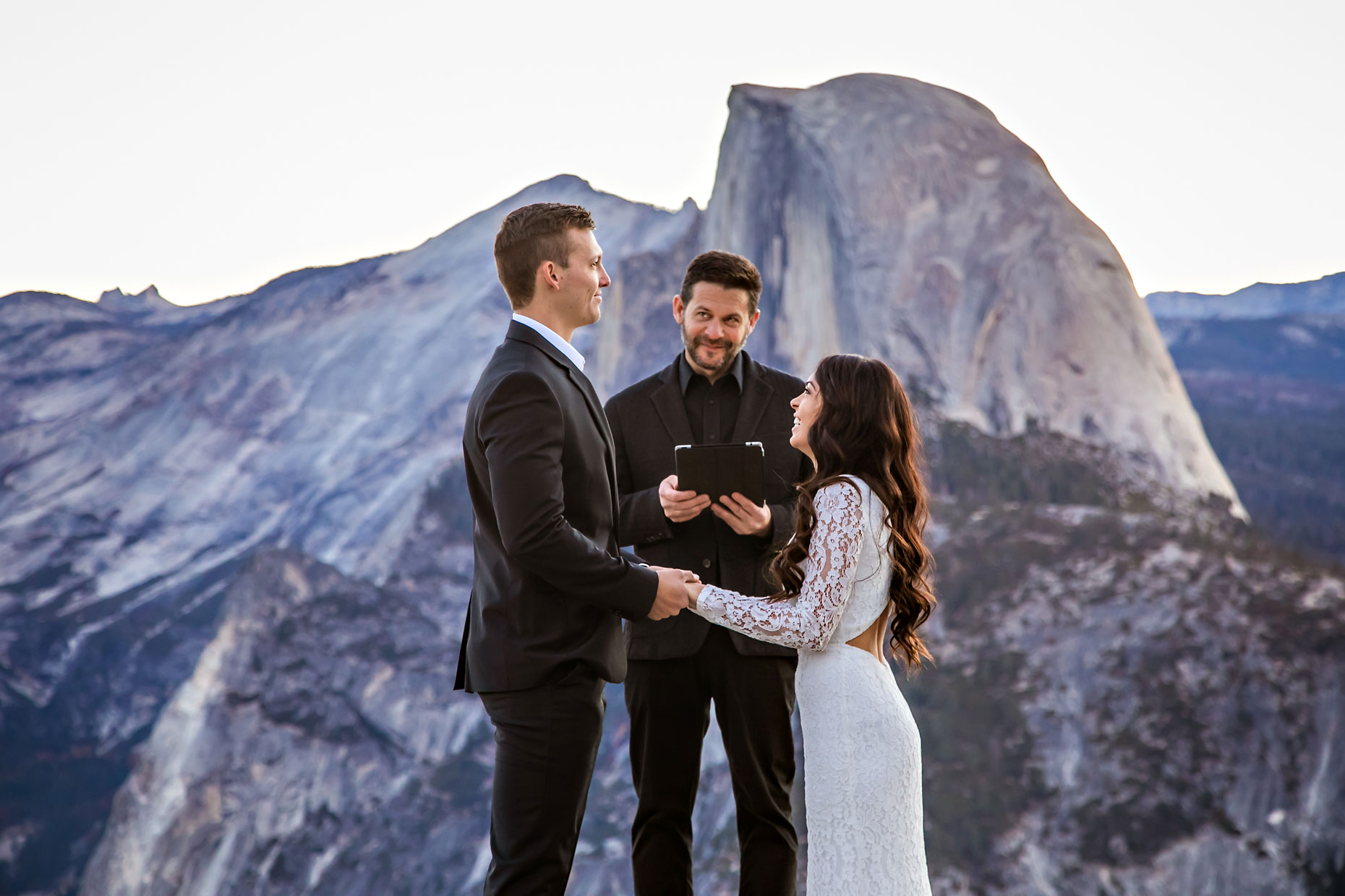 Glacier Point elopement photographer at sunrise.
