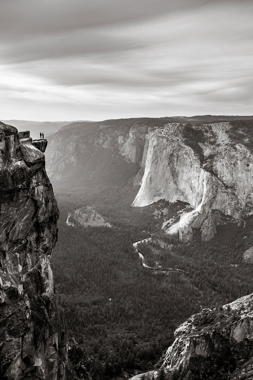 Taft Point adventure photographer session in Yosemite.
