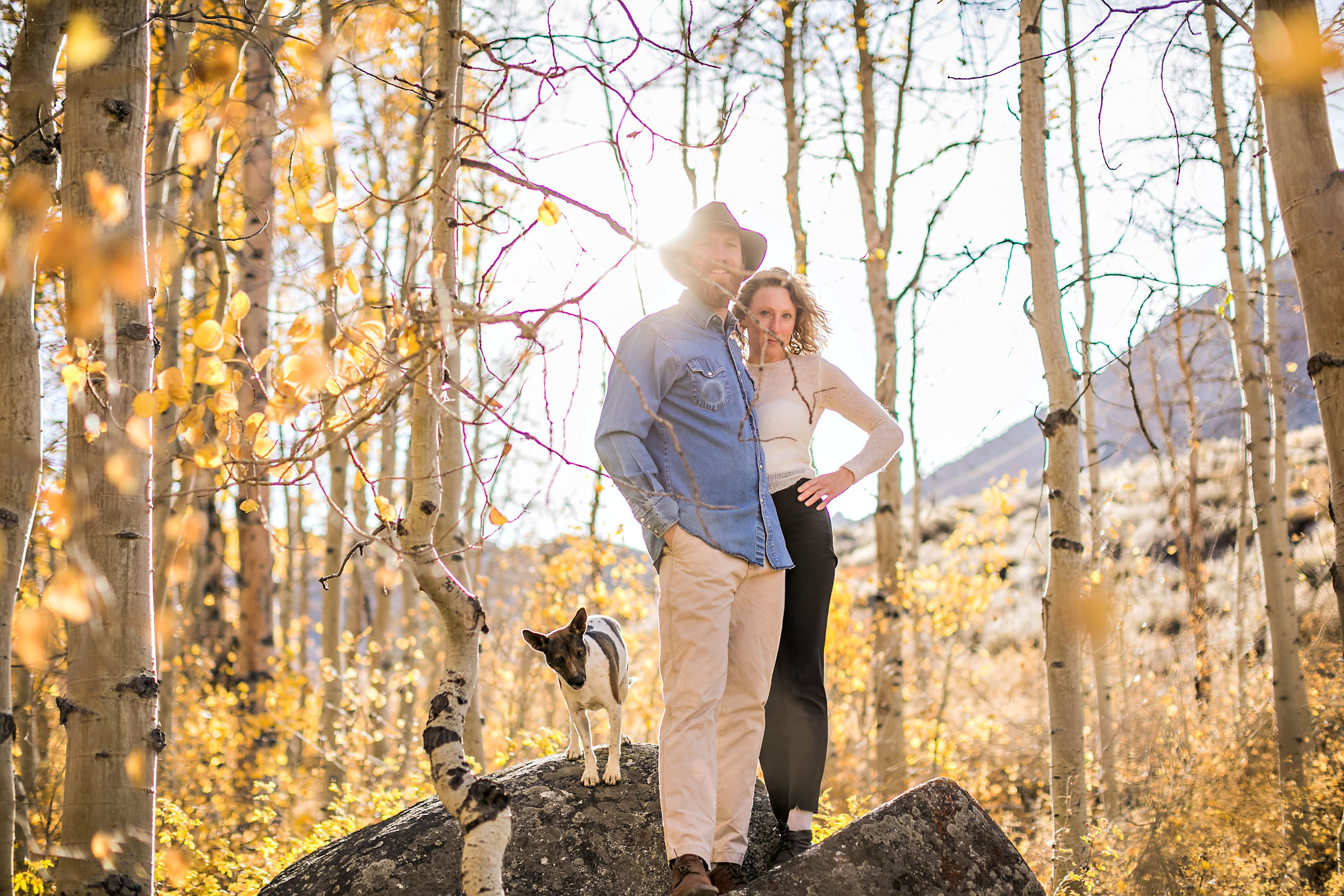 Mammoth Lakes & Eastern Sierra adventure couple photography.