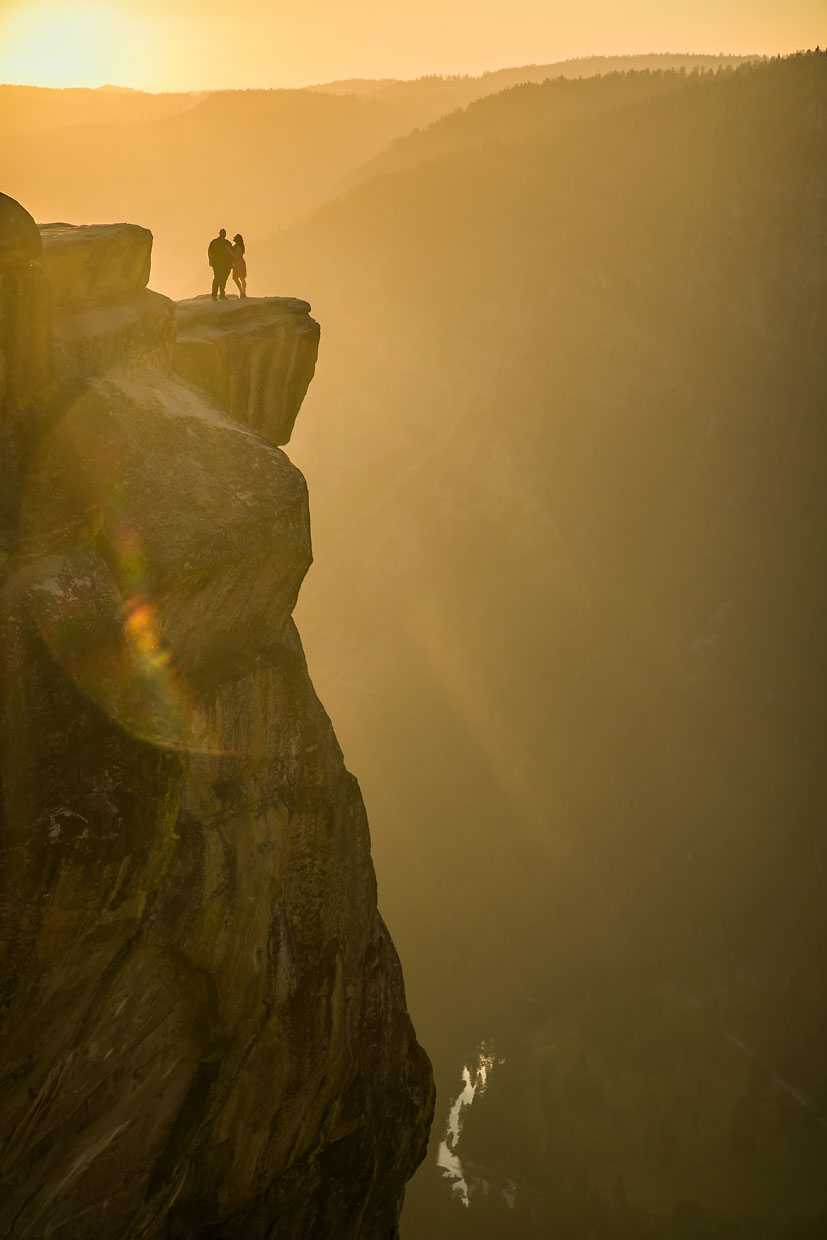 Taft Point adventure photography sunset session in Yosemite.