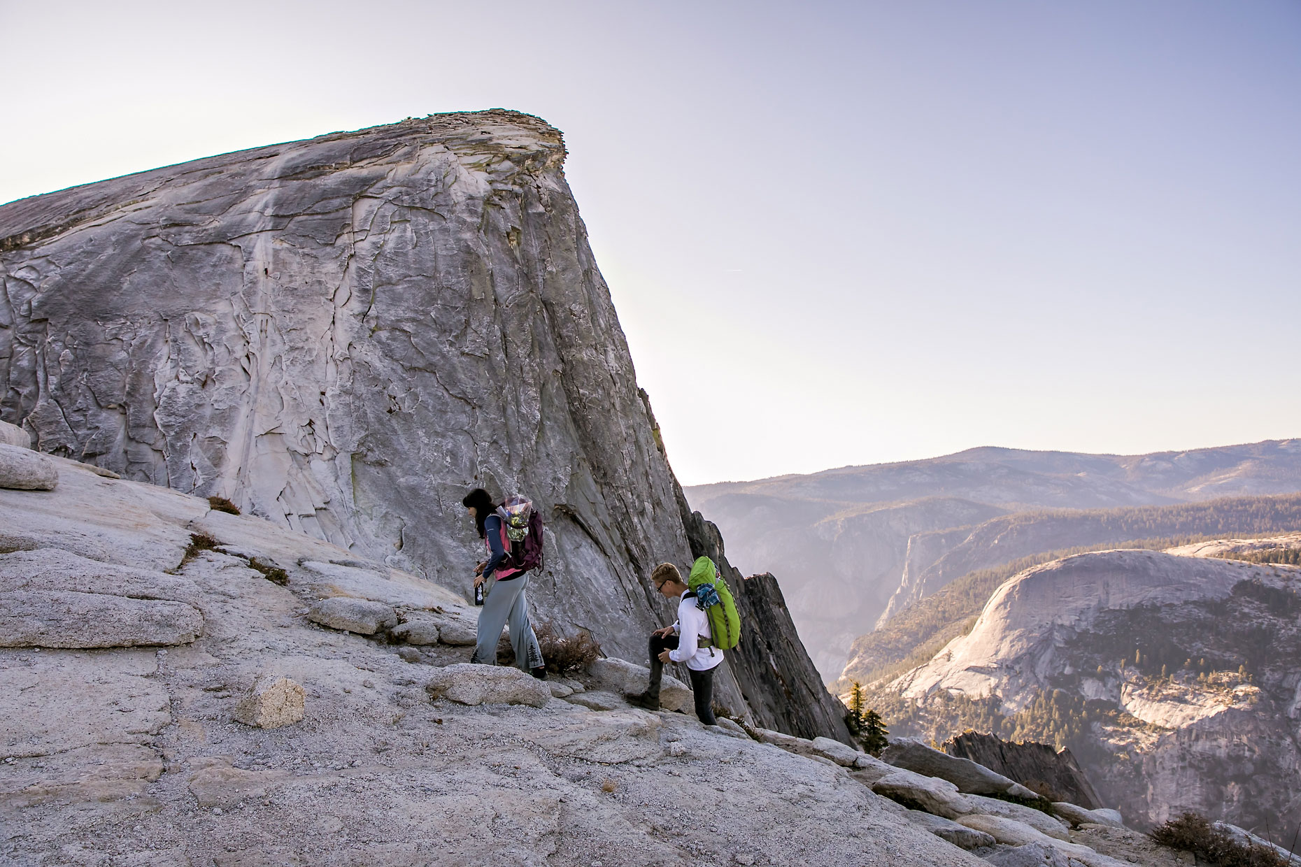 Half Dome adventure photographer in Yosemite.
